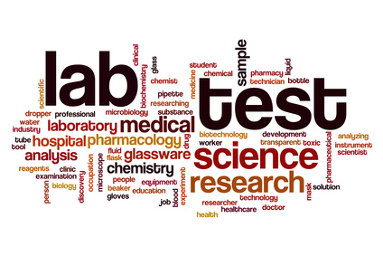 Lab test word cloud